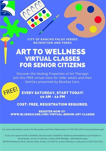 Virtual Art Classes - Free For Seniors