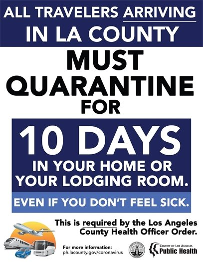 !0-Day Mandatory Quarantine for Travelers