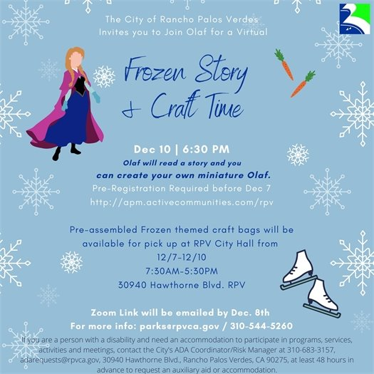 Frozen Story and Craft Time