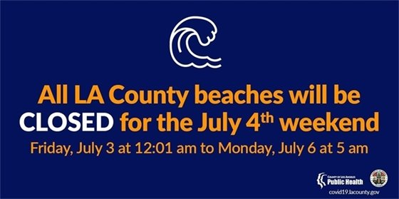Beaches Closed July 4th Weekend