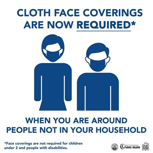 Cloth Face Coverings are Now Required