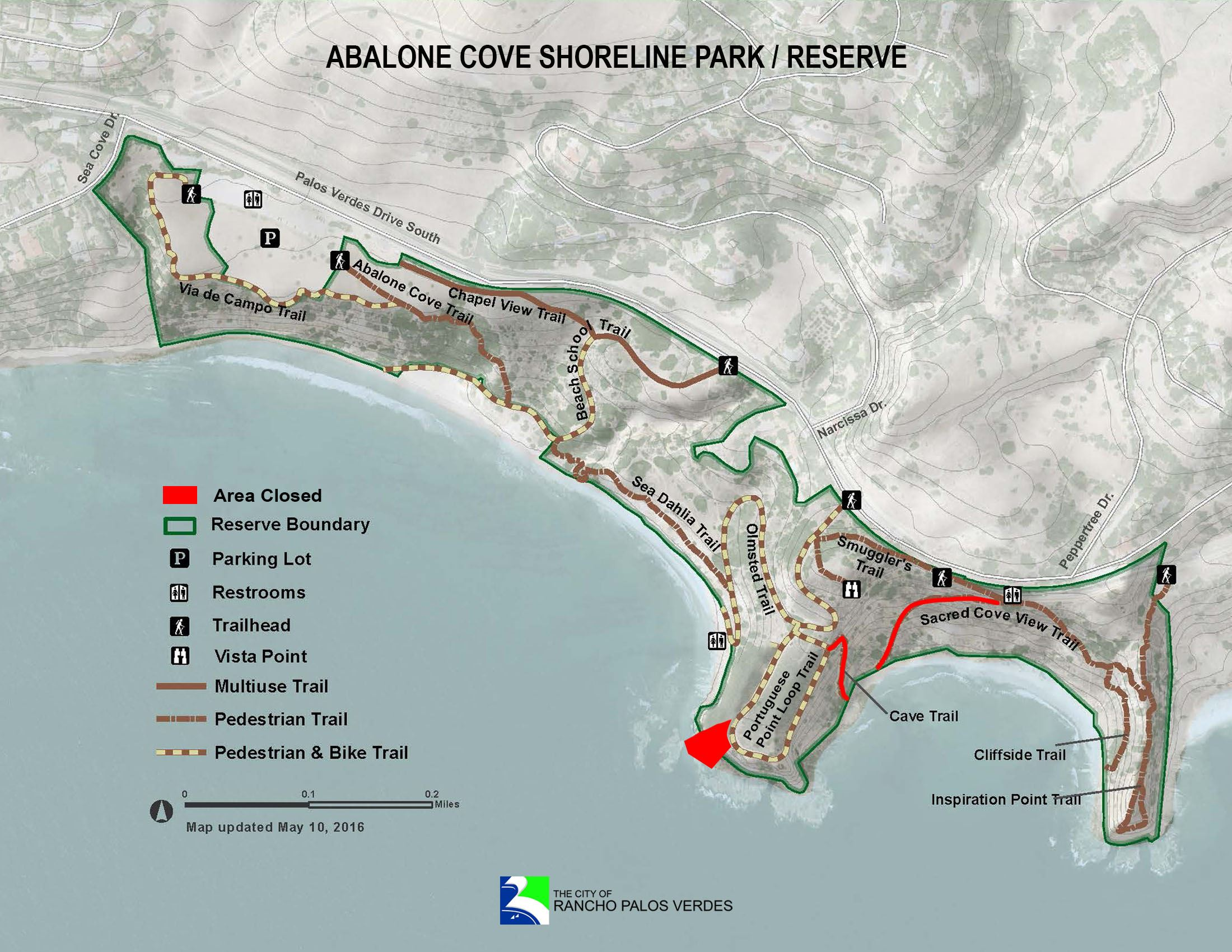 Abalone Cove trails closed