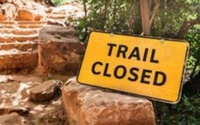 Trail Closed sign