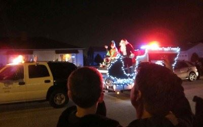 Santa Claus with police escort