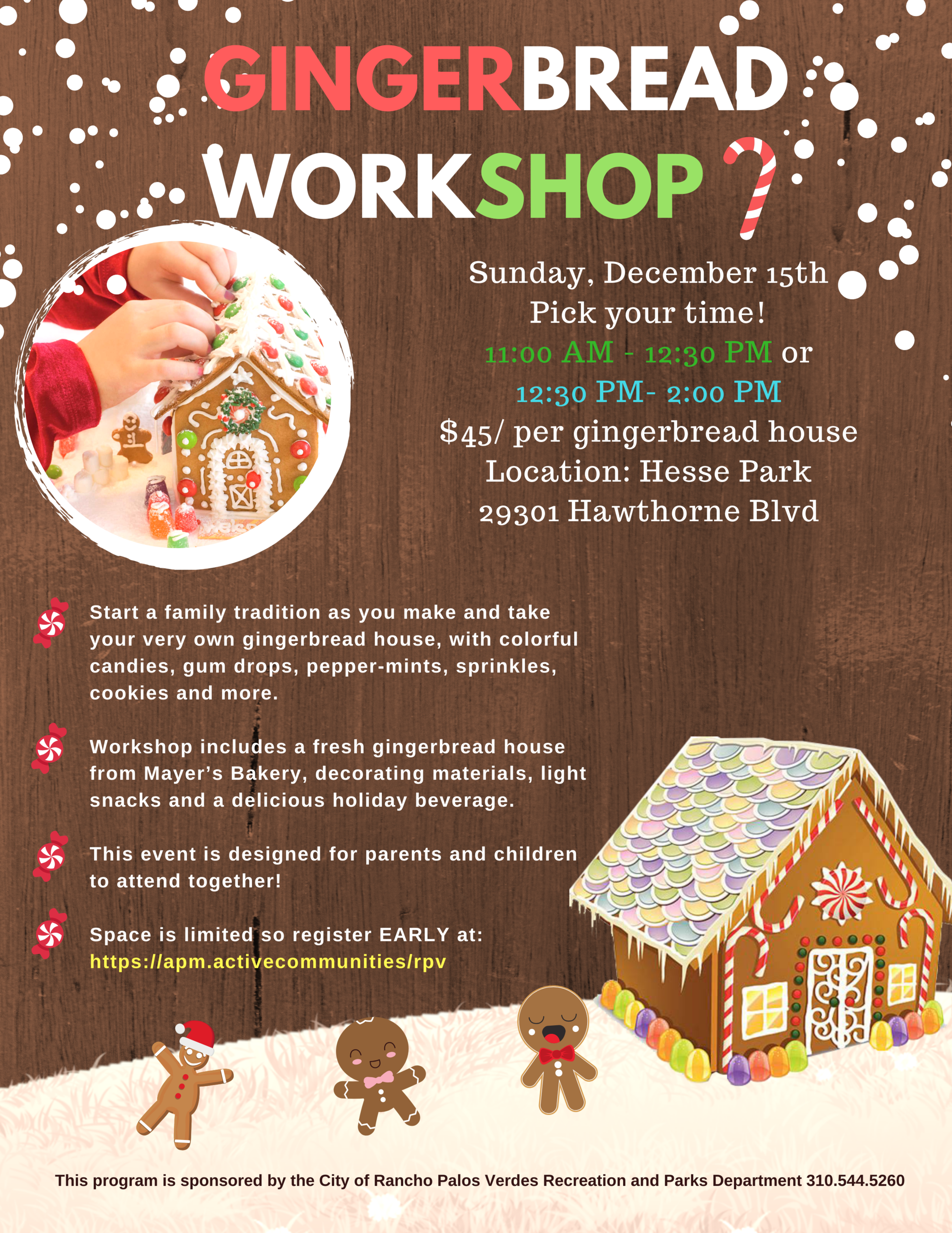 GINGERBREAD WORKSHOP 12.15.19