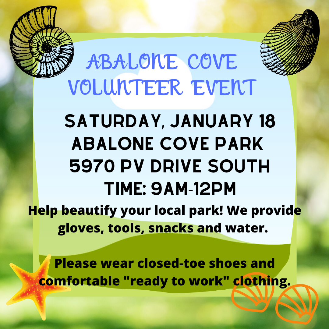 Volunteer Events 1.18.2020 - Abalone Cove