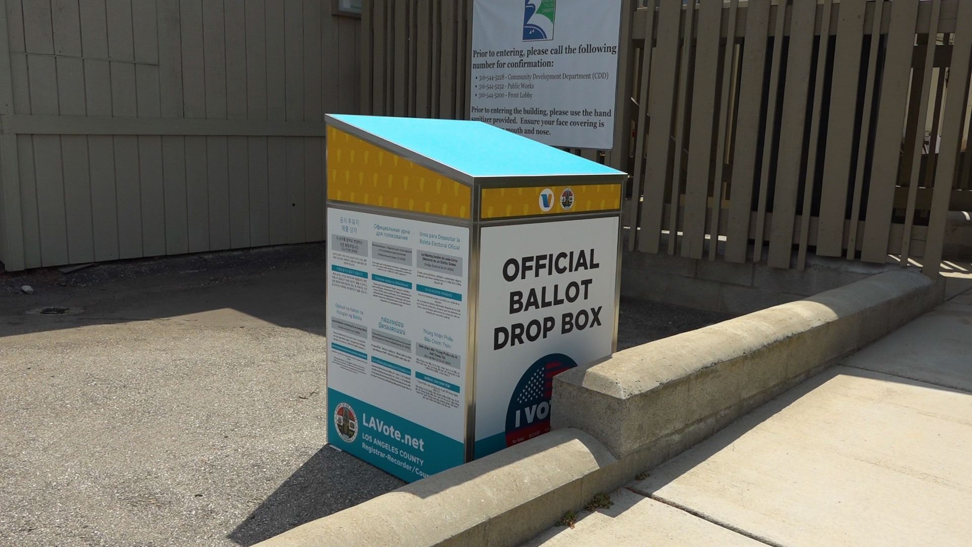 VBM Ballot Drop Box