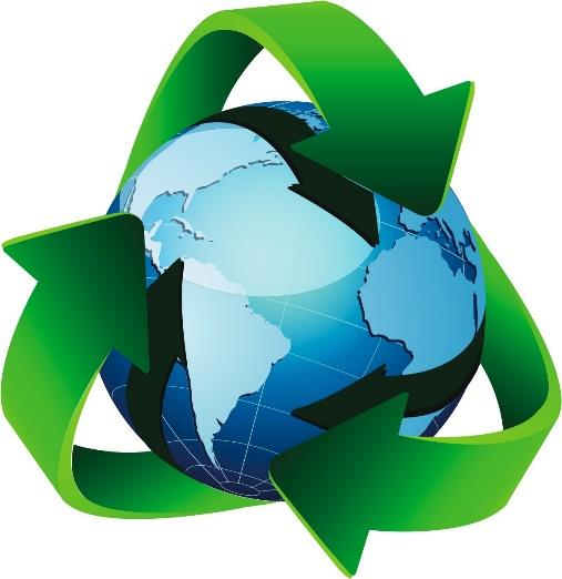 Earthwith recycling symbol