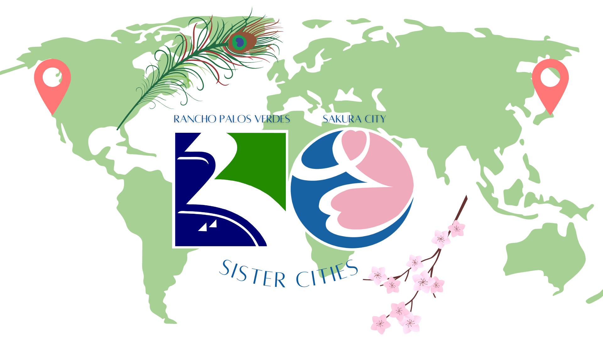 Sister Cities wide map