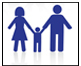 Drawing of mom and dad holding hands of child between them