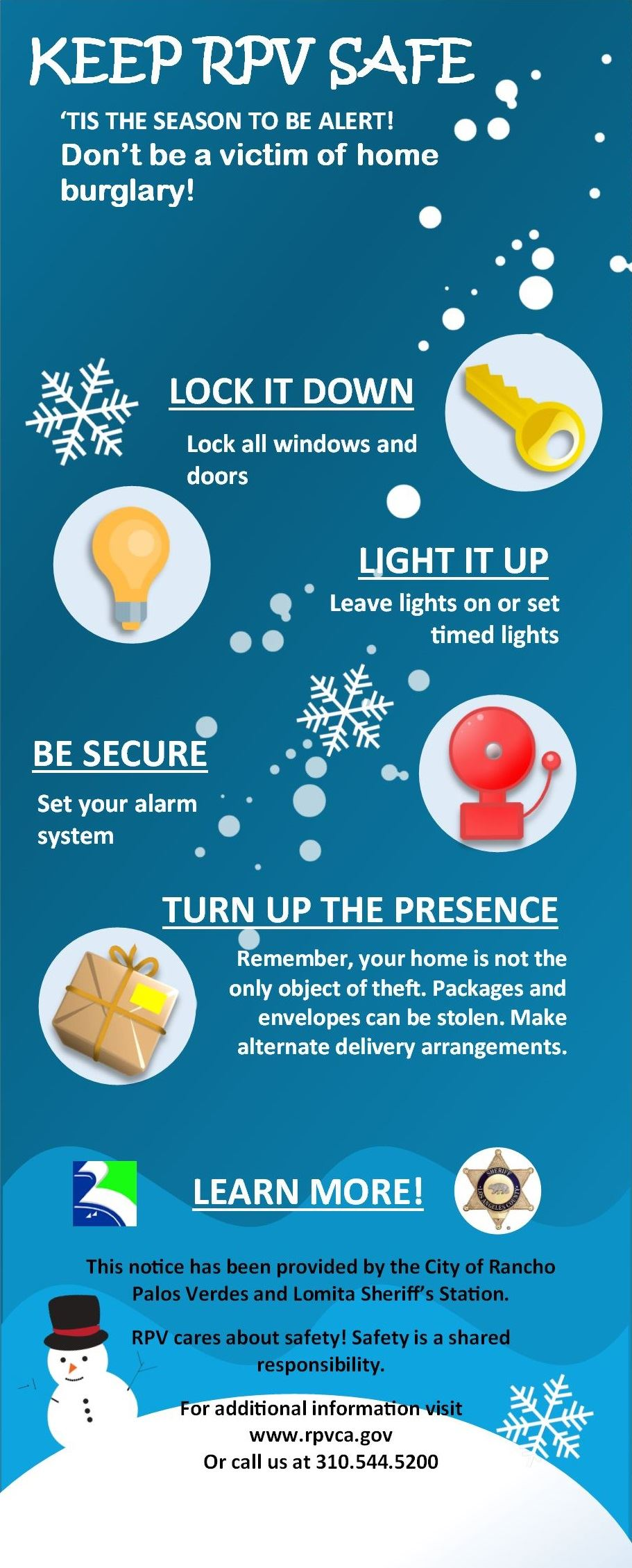 Public Safety info card holiday