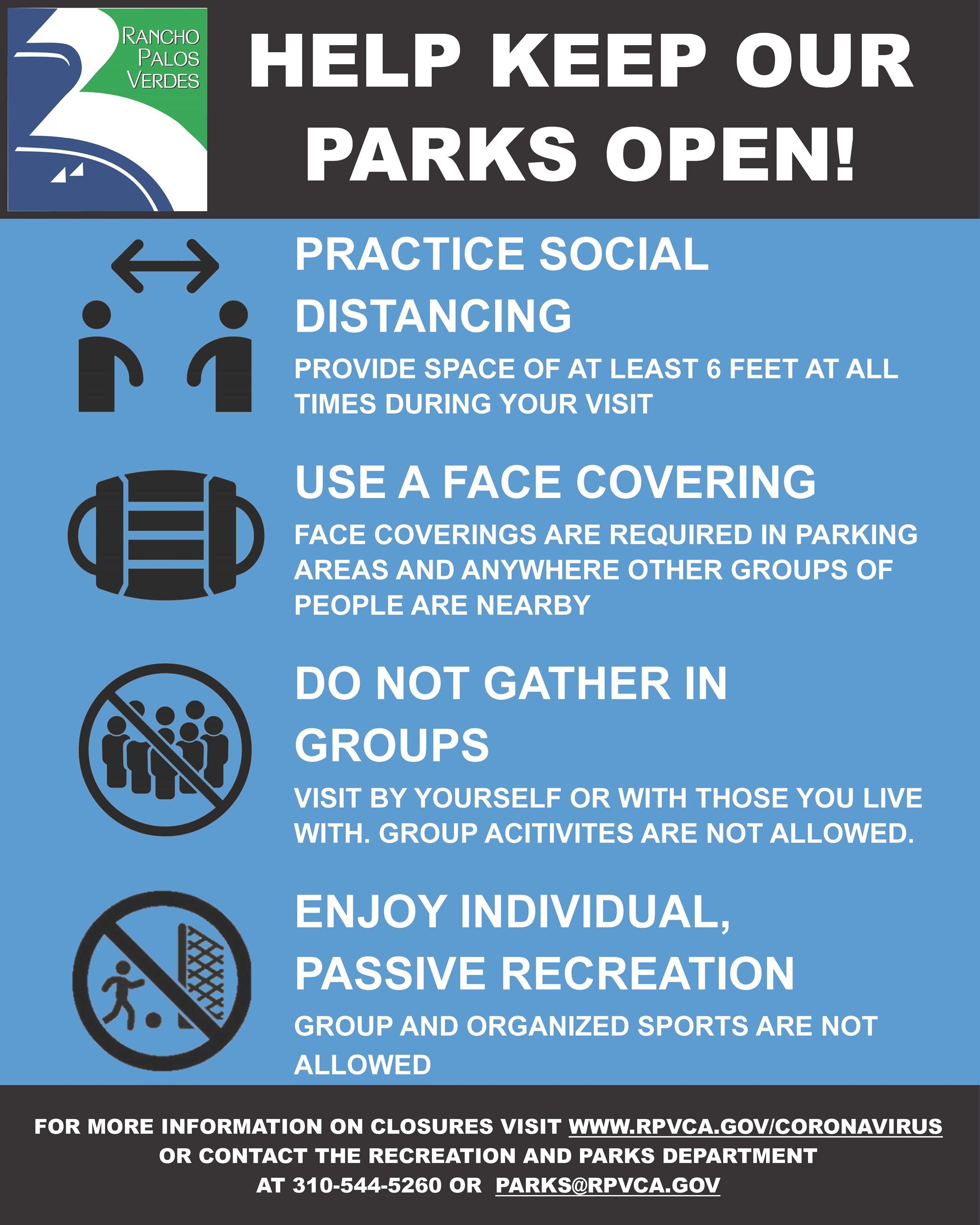 Help Keep Our Parks Open RPV