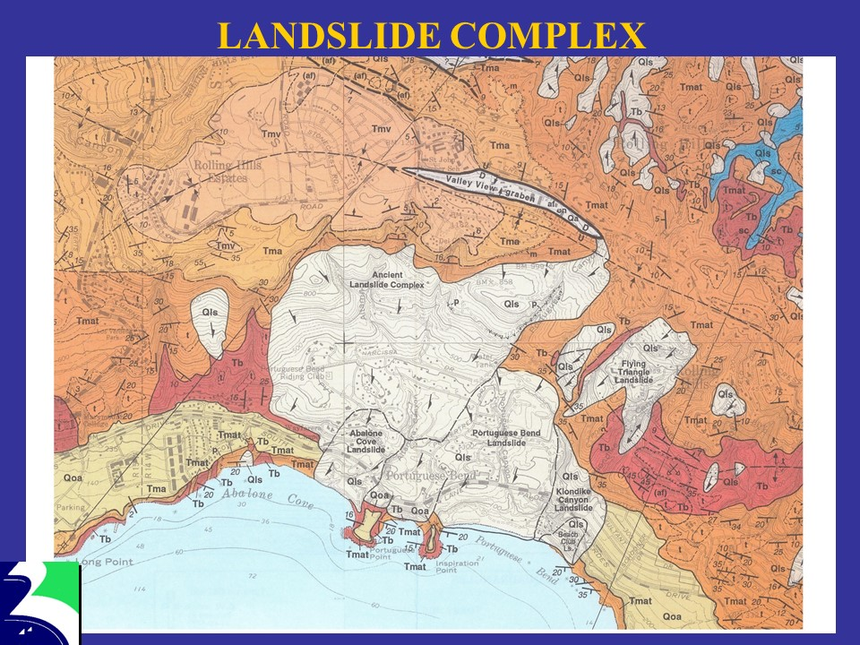 Slide Showing Landslide Complex Map